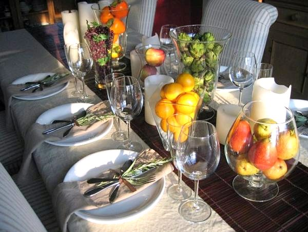 Fall decorating tips for the table - Tavole apparecchiate moderne ...