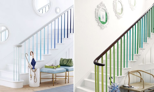 Ombre stairs Dressing Up your Boring Stairs with Creative DIY Tips