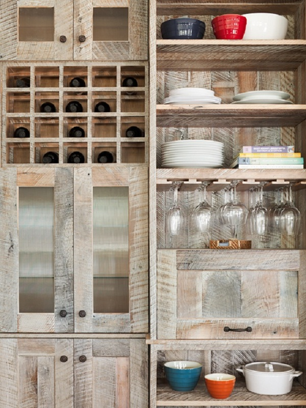 Recycled cabinet doors worth the money savings for Kitchen units made from pallets