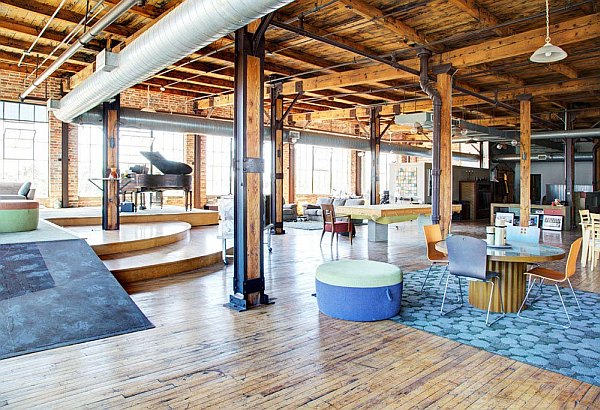 spacious and exclusive detroit penthouse charms with its industrial interior design - Detroit Interior Designers