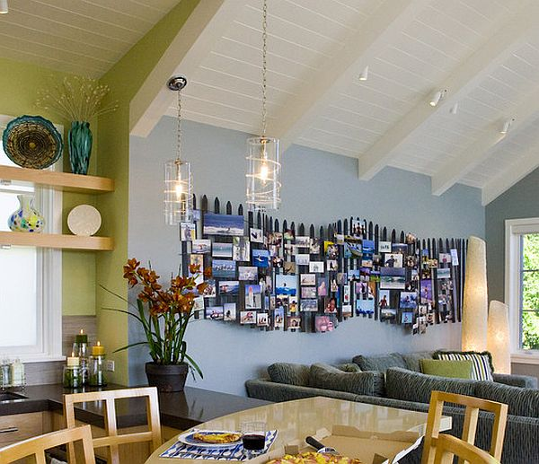 How to make a photo collage on your wall without frames