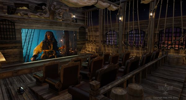 Pirates of the Caribbean inspired extravagant Home Theater System