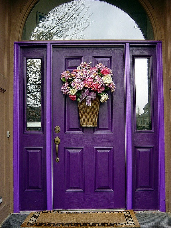 Choosing the paint color for the exterior of your house - Purple exterior paint image ...