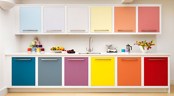 View In Gallery Rainbow Kitchen Cabinets Part 2