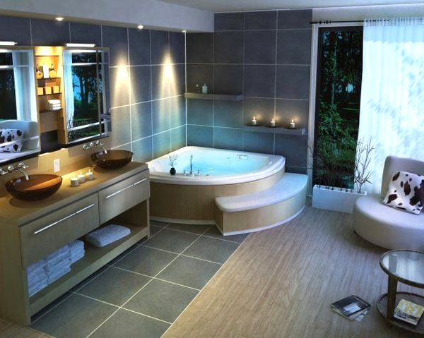 View In Gallery Recessed Lights In A Modern Bathroom