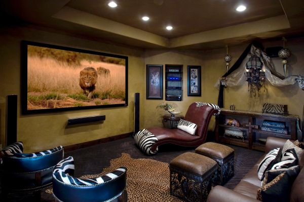 Safari-styled Media Room captures the wild spirit