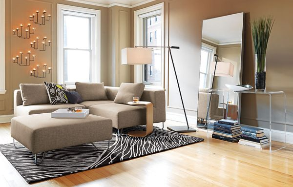 Space saving design ideas for small living rooms for Living room 2 seating areas