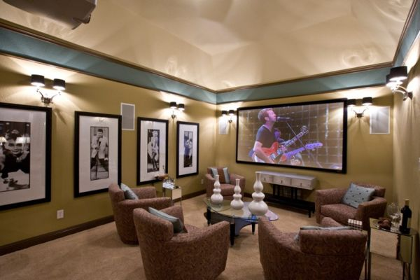 media room captures the wild spirit view in gallery - Media Room Design Ideas