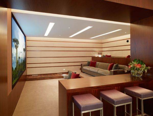 in gallery sleek and striking home theater
