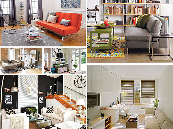 Space saving design ideas for small living rooms - Desk options for small spaces decoration ...