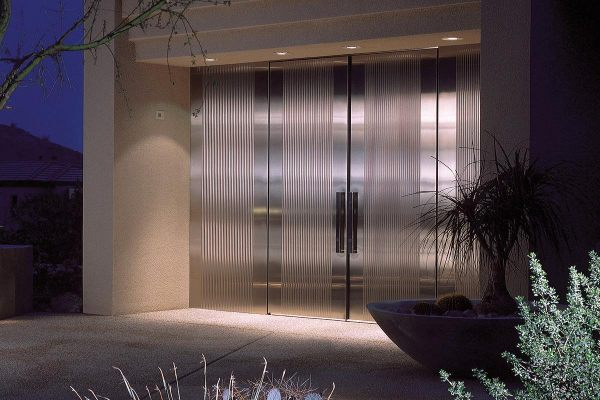 Stainless steel doors with a satin finish