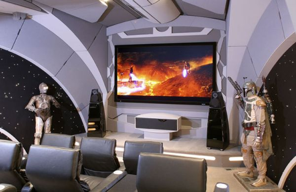 Star Wars Inspired Home Theater Design