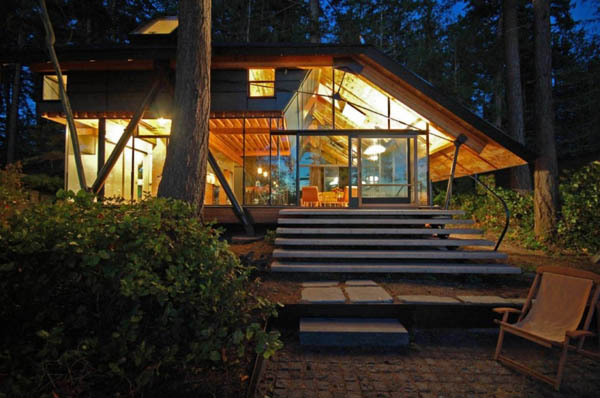Swinomish Indian Reserve Cabin 2 Transparently Swinomish Indian Reserve Cabin Provides a Cozy Visual Treat