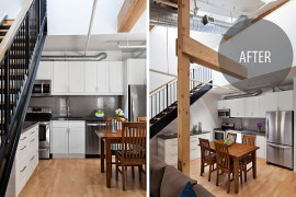 Toronto Penthouse Loft Gets a Contemporary Makeover in White & Blue