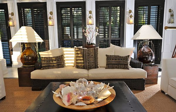 living room shutters. View in gallery Asian style living room  Hot Home Trend Interior Shutters