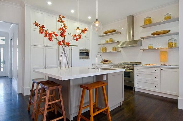 autumn decorating kitchen with orange flowers Four Simple Decorating Ideas for Fall