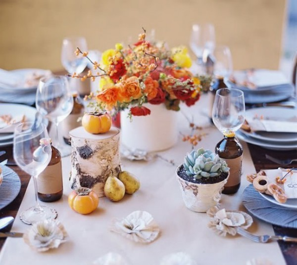 autumn natural ideas dining table