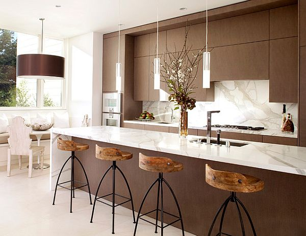 Charming View In Gallery Brown And White Kitchen Design Part 28