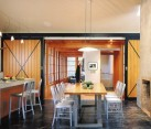 concrete interiors dining room