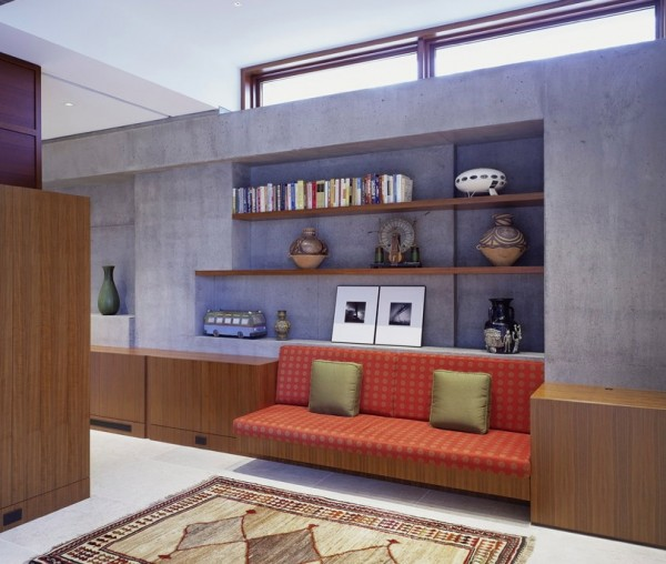 concrete interiors sitting area