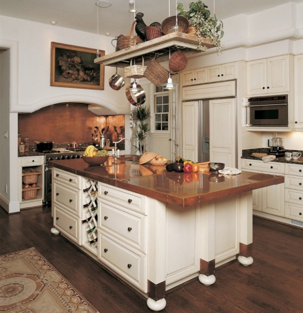 copper counter kitchen ideas