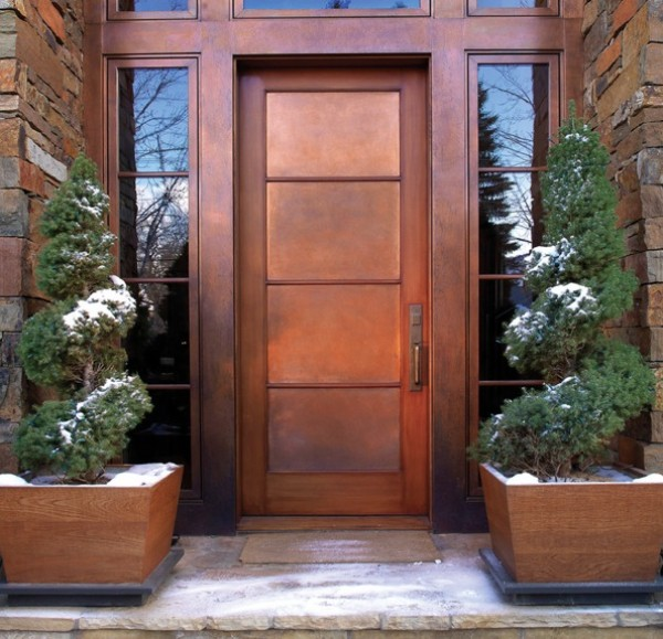 copper front door home