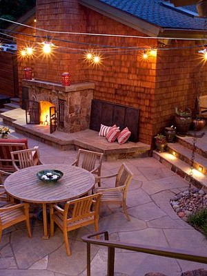 cozy outdoor relxaing area