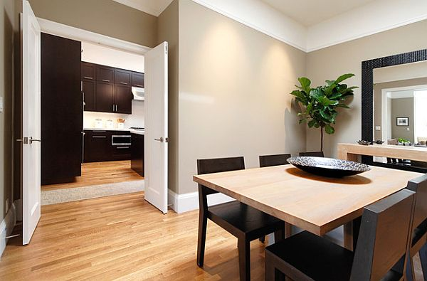 crisp-dining-room-remodeling-with-stylish-square-table