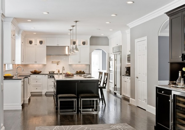 View in gallery dark floors kitchen