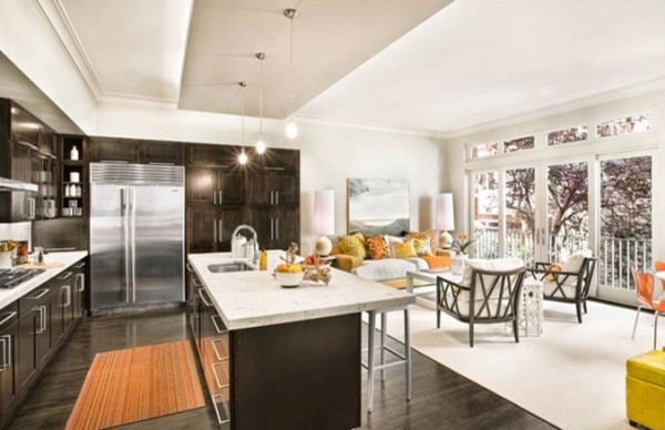 dark wood floors in kitchen. View in gallery dark wood floors kitchen How to Use Dark Floors Brighten your Dull Home
