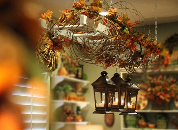 Using fall leaves in home d cor for Autumn decoration