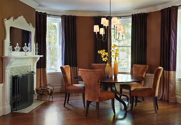 Eclectic dining room with round table decoist for Eclectic dining room designs