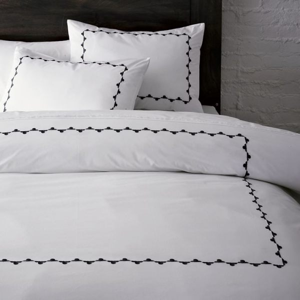 Embroidered hotel-style bedding