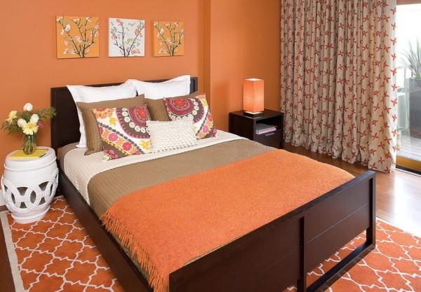Good View In Gallery Fall Bedroom Orange Colors