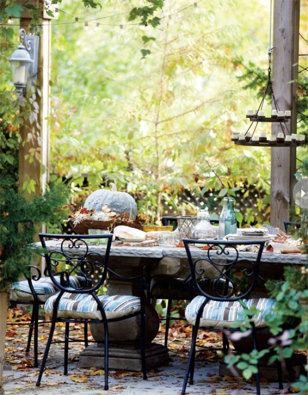 fall decor outdoor entertaining