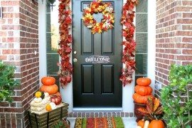 fall decor outdoor front entry