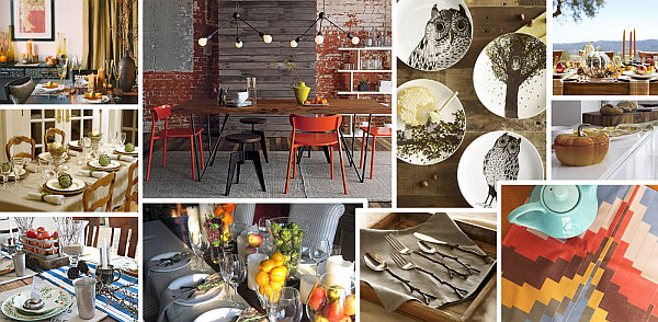 Fall decorating ideas - table decoration