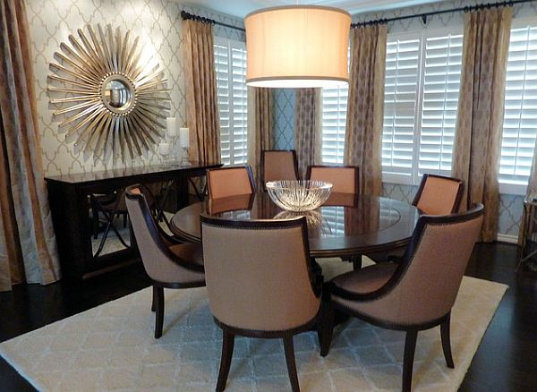 23 unique dining room table designs for Unique dining room wall decor