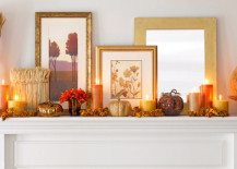 fireplace mantle ideas candles