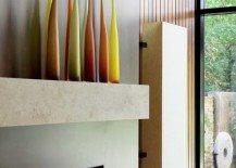 fireplace mantle modern vases