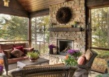 fireplace mantle outdoor fall