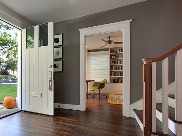 Gray Interior Paint Brilliant Of Grey Wall Colors with Dark Wood Floors Photo