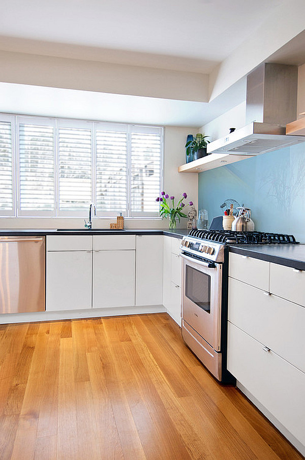 kitchen with interrior shutters Hot Home Trend: Interior Shutters