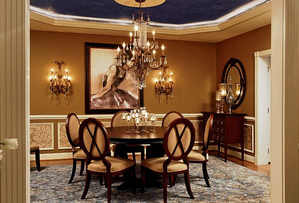 Round Dining Tables. View In Gallery Luxury Dining Room ... Part 71
