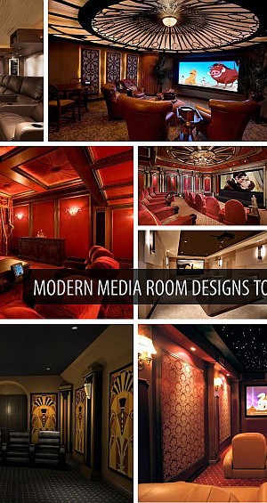 Great collection of stunning media rooms designs