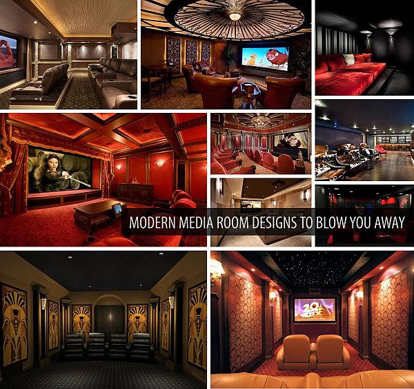 modern media room designs