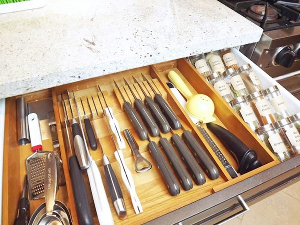 organized utensil drawer Easy Ways to Organize your Home for Productivity