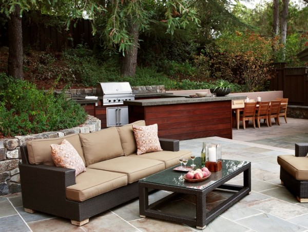 outdoor bbq seating area