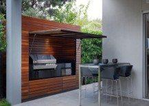 outdoor summer kitchen wood