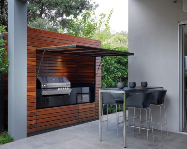 outdoor summer kitchen wood